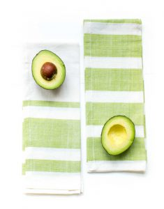 Rugby and Striped Tea Towels in Avocado {The Little Market}