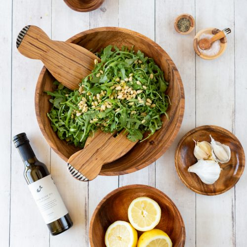 Be-Well-By-Kelly-LeVeque-Summer-Arugula-Salad-Recipe-{The-Little-Market} (1)