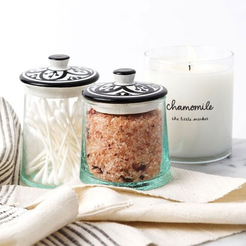 Glass Jars and Chamomile Prosperity Candle | The Little Market