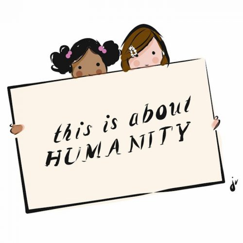 Illustration by Jennifer Vallez of Sophie & Lili x The is About Humanity