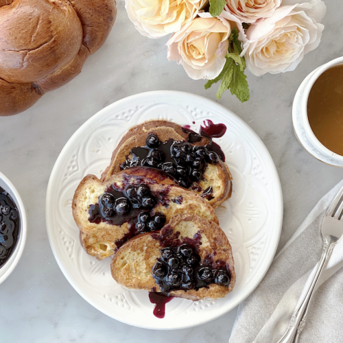 Lauren Conrad Challah French Toast + Blueberry Syrup - Homeboy Bakery x The Little Market