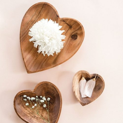 Heart-Trays-Bowls-Wooden-|The Little Market